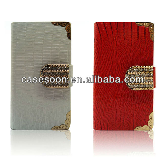 leather shining Flip Wallet luxury case cover skin for iPhone 4s 4