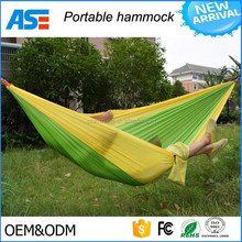 High Quality2017 Stock outdoor sleeping hanging camping single hammock