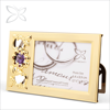 Special Lovely Sliver Plated Crystals Floral Flower Picture Photo Frames