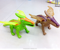 6 inch scale custom made plastic electric control dinosaurs with movable joints kids toy for crowdfunding