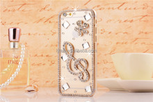 Handmade Bling Crystal Skin for iphone 5/5S, Diamond Finished Hard Case Cover for iPhone 5, Fashion Clear Back Cover for iphone5