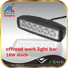Heavy machine roof top led working light bar 18W 6inch10-30v work lamp for atv truck off road 4x4