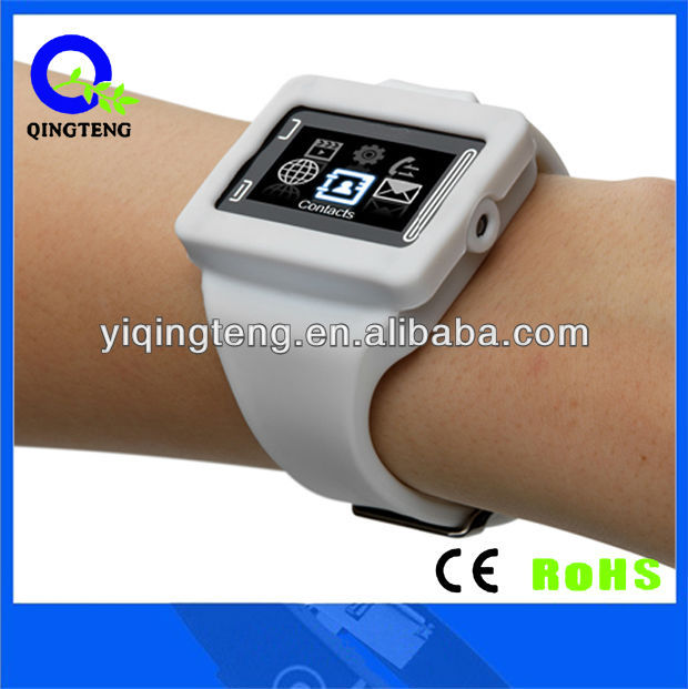 2012 fashionable watch phone with caller ID and beautiful color and Edible silica gel