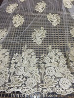 Wedding dress embroidery lace fabrics