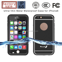 Luxury aluminum ultra-thin phone waterproof metal case for iphone 6 6s