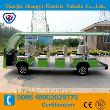 Battery Operated Electric sightseeing 14 passengers mini bus made in China