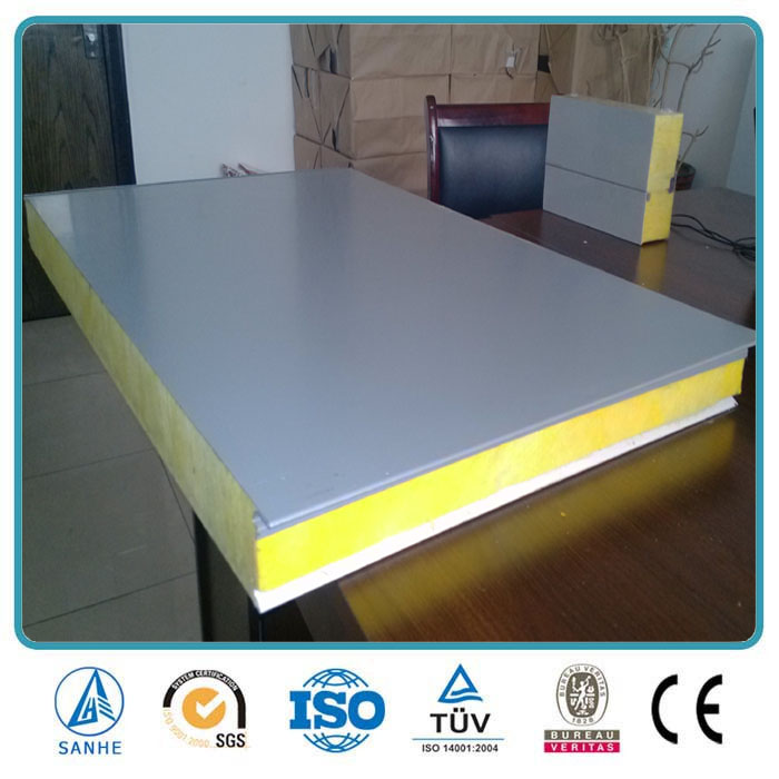 Glasswool sandwich panel exterior decorative metal wall panel