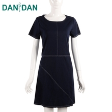 Summer Short sleeves ladies summer dresses fashion girls short frocks knit dress