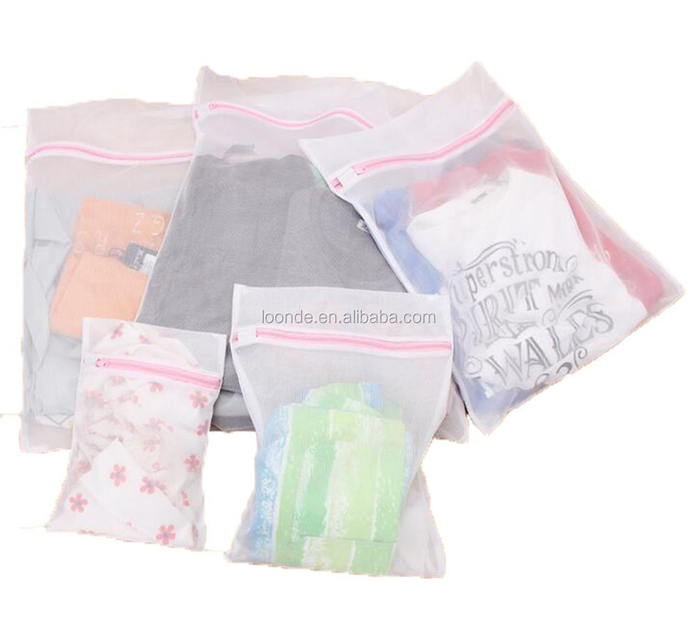 High quality polyester silk soft laundry net washing detergent bag