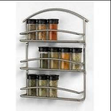 Fancy 3 layers chrome wall mounted metal spice rack