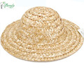 Qingdao hot selling manufacturer round top natural straw fedora hat