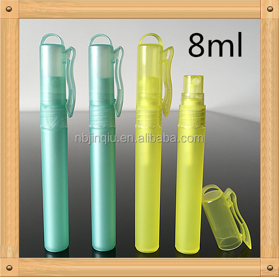 PP materail personal care industrial use plastic keychain spray bottle 5-10ml