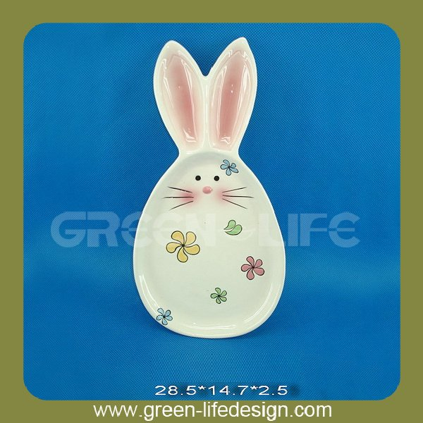 Easter holiday bunny ceramic fruit plate