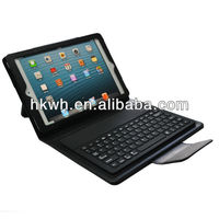 Portfolio Stand Leather Case With Bluetooth Keyboard For mini ipad
