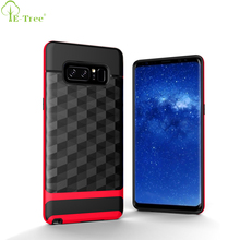 Diamond Phombus Pattern Hard Frame Combo TPU Bumper Cover Case For Samsung Galaxy Note 8