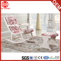 Popular leisure rocking chair with foot stool in cheap price