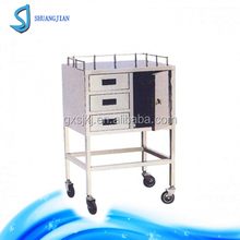 SJ-C14 stainless steel II type anaesthesia trolley