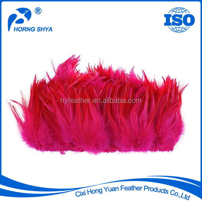 High Quality Various Type White Rooster Feather Strung 2.5-7 Inch Rooster Saddle Feather
