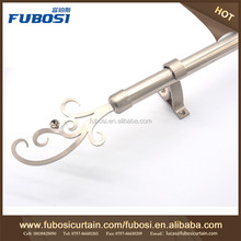 Double Rod Curtain Bracket , Double Drapery Rods And Hardware , White Double Curtain Rod Set