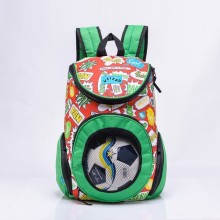 custom OEM sport bag soccer backpack with ball compartment for school students