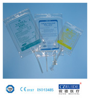 Medical disposable IV infusion bag set for filling soup