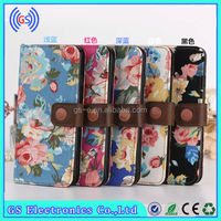 Flower Style Jean Canvas Mobile Phone Leather Case For LG G3