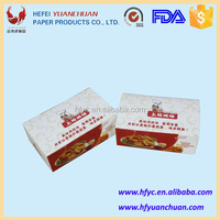 Disposable cardboard paper fried chicken container