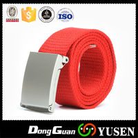 Durable polyester automatic buckle mens canvas belt for sale