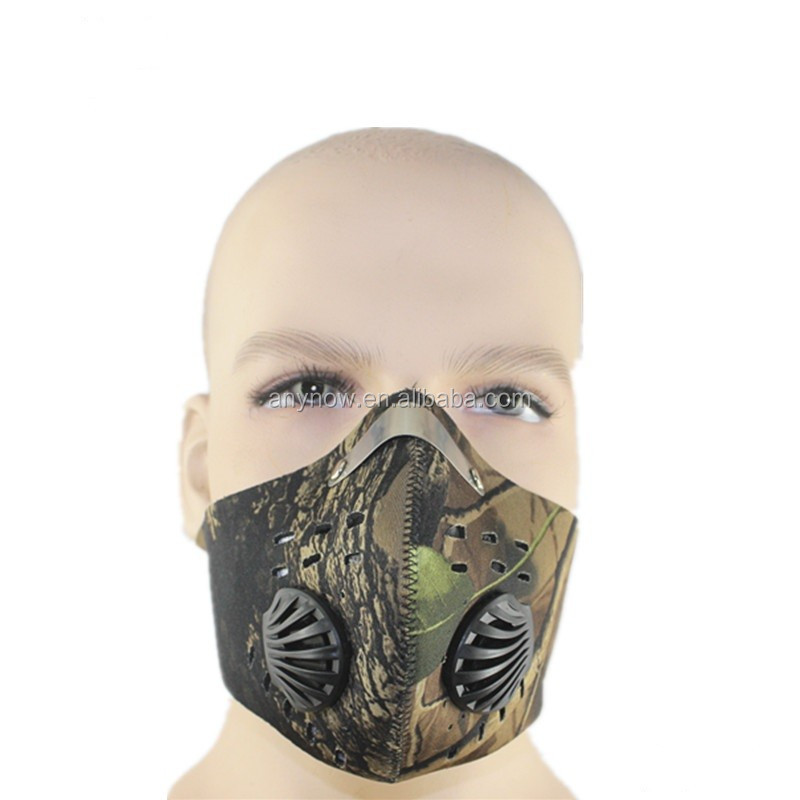 Colorful camouflage wild unisex activated carbon anti gas poison mask