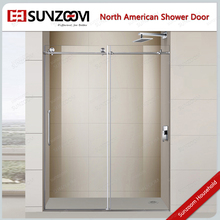 SUNZOOM North-American market Brushed frameless shower door <strong>hardware</strong>