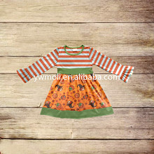 new fashion 2017 fall long sleeve baby girls frocks pumpkin pattern 3-5 year old girl dress little girl clothes