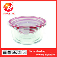 stackable food container set/leakproof glass container/ppyrex glass storage