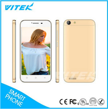 Unlocked Gold Color Dual Mode MTK6572 3G Android 4.4 Mobile Phones