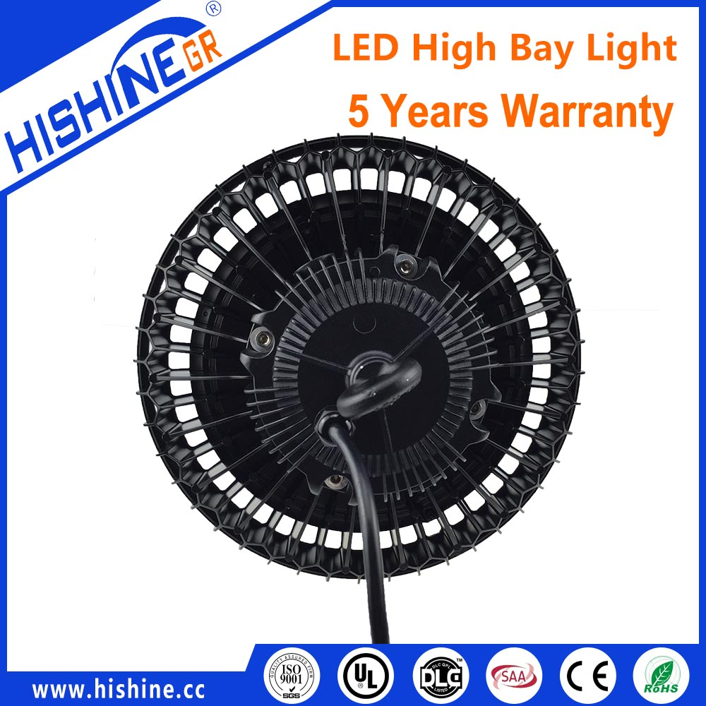 Hishine led lighting 150w UFO high bay led light with seven years warranty