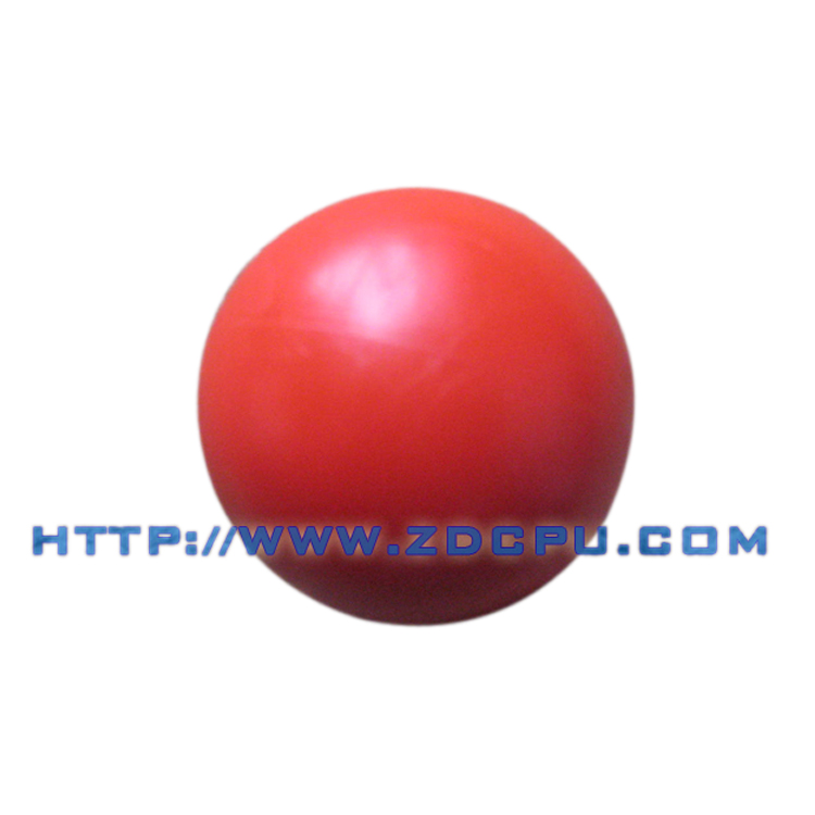 Small tolerance impact resistant anti-aging solid plastic ball