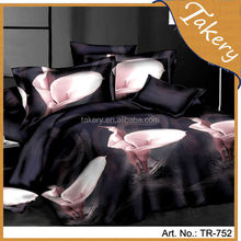 cheap price 3d polyester customed bedding sets to south american