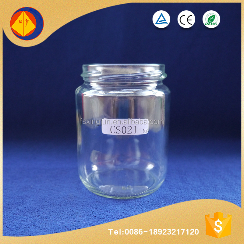 Glass supplier cheap 250ml glass honey jars wholesale