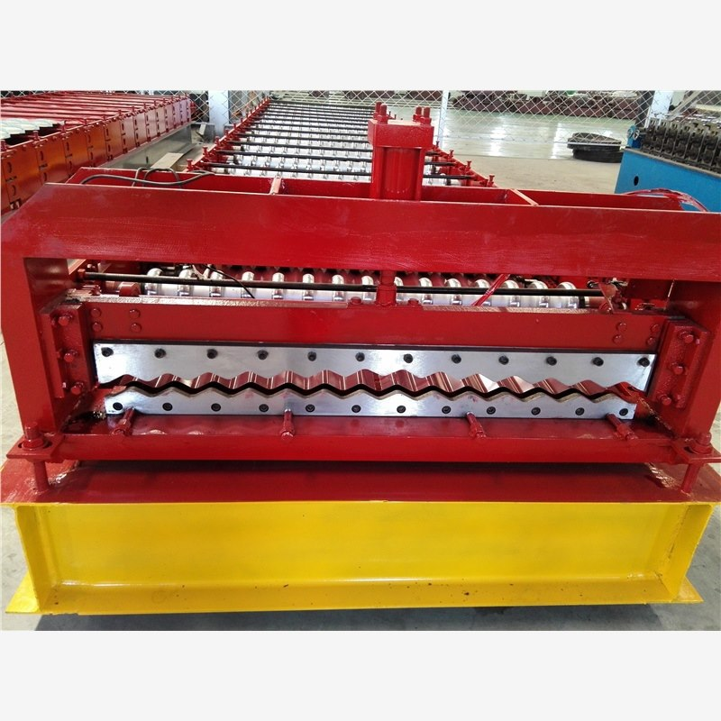 grand & professional manufacturer stone coated roofing tile roll forming machine on the market hydraulic shearing machine