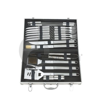 Hongjin 25PCS Garden Supplies Metal BBQ Tools Set