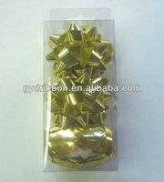 Holographic Gold Ribbon Star Bow and Gift Eggs For Wedding Decoration