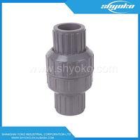 new type UPVC spring check valve 3/4