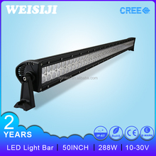 "Hot sales shenzhen car accessories 288W 4x4 auto 50"" led light bar"