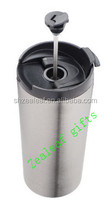 stainless steel coffee travel french press mug