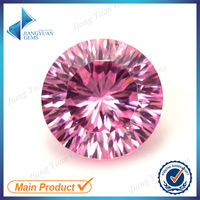 High quality lovely pink round millenium cut cz gems