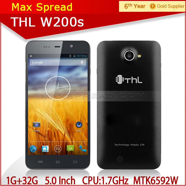 5.0 inch FHD screen 1280*720 thl w200s android 1gb ram mobile yestel mobile phone