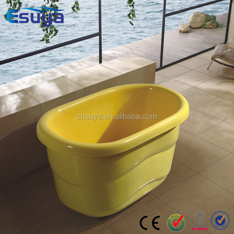 baby bath tub small freestanding color roll top classical