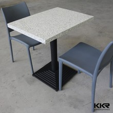 Seamless joint solid surface dining table white table for restaurant