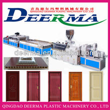 wood plastic door making machine/wpc hollow door board production line