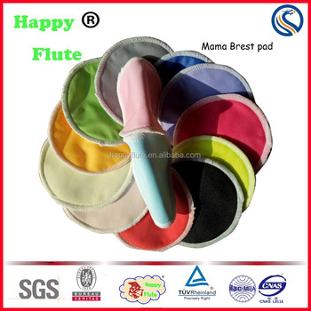 Happyflute bamboo round shape mama cloth pads breast feeding nursing pads factory