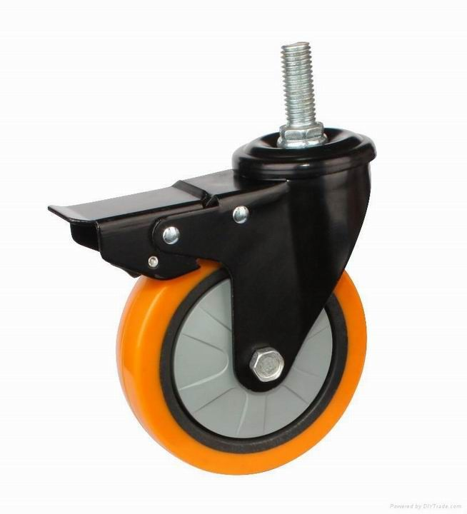 professional custom nbr/pu/rubber/plastic molded caster wheels,injection urethane products